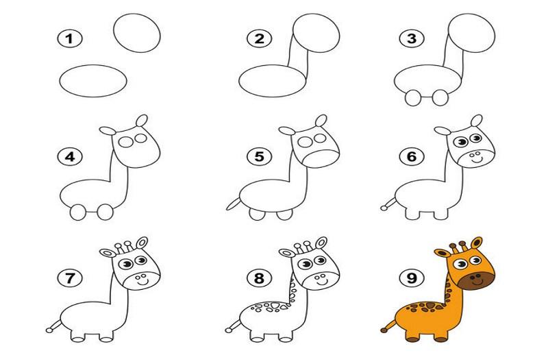 In 9 Schritten zur Giraffe